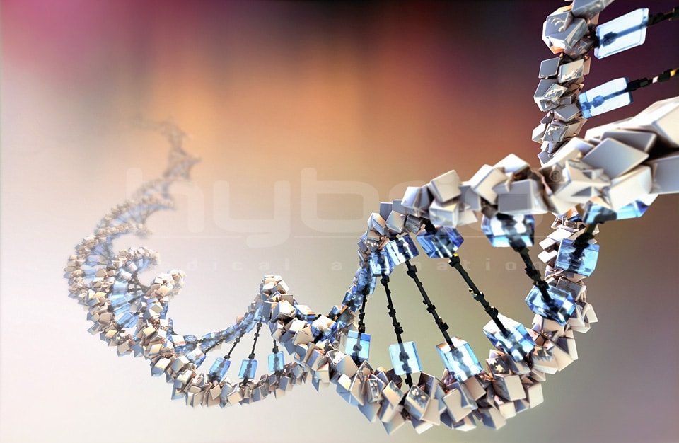Stylized dna structure hybrid medical animation ccuart Images